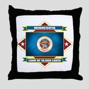 Minnesota Flag Throw Pillow
