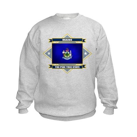 Maine Flag Kids Sweatshirt