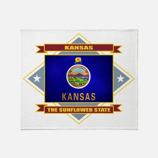 Kansas Flag Throw Blanket