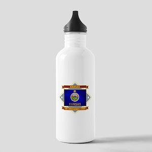Kansas Flag Stainless Water Bottle 1.0L