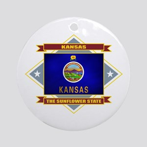 Kansas Flag Ornament (Round)
