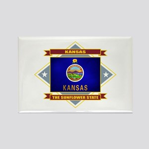 Kansas Flag Rectangle Magnet