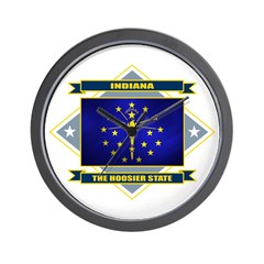Indiana Flag Wall Clock