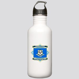 Connecticut Flag Stainless Water Bottle 1.0L
