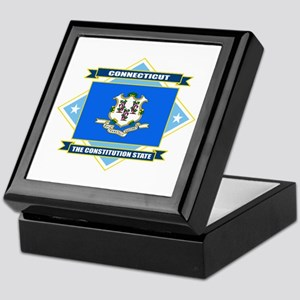 Connecticut Flag Keepsake Box