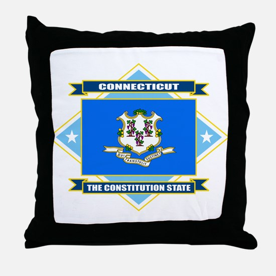 Connecticut Flag Throw Pillow
