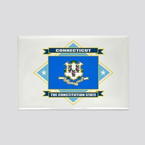 Connecticut Flag Rectangle Magnet