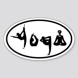 YOGA Oval decal Sticker