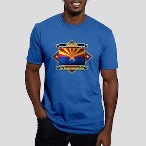 Arizona Flag Men's Fitted T-Shirt (dark)