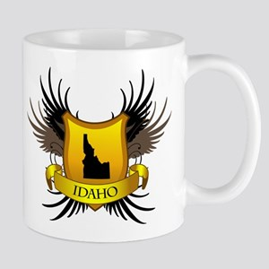 Banner, Heart & Wings - Idaho Mug