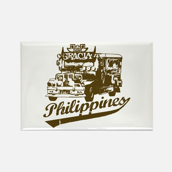 Philippines Jeepney Rectangle Magnet