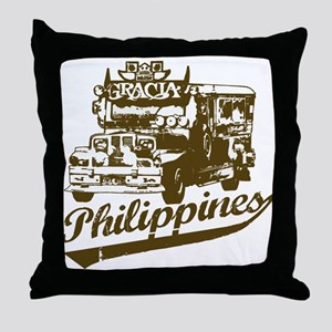 Philippines Jeepney Throw Pillow