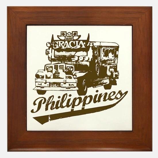 Philippines Jeepney Framed Tile