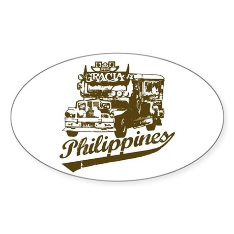 Philippines Jeepney Oval Sticker