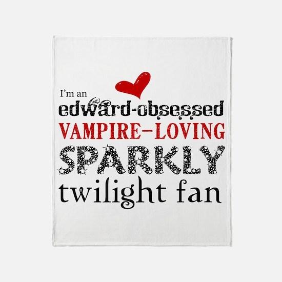 Sparkly Twilight Fan Throw Blanket