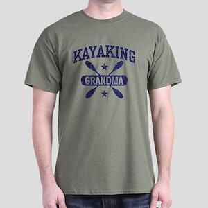 Kayaking Grandma Dark T-Shirt