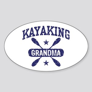 Kayaking Grandma Sticker (Oval)