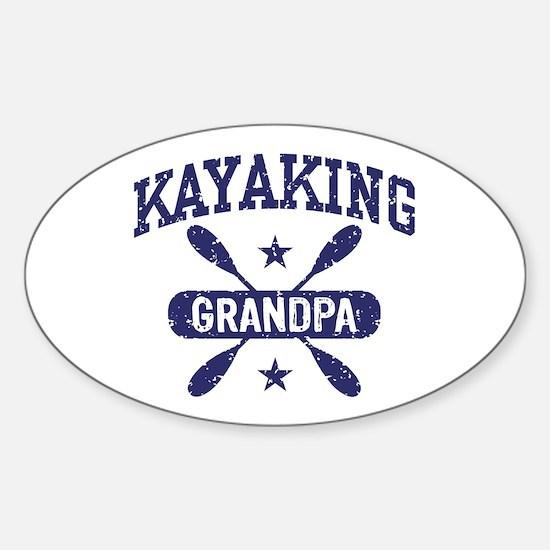 Kayaking Grandpa Sticker (Oval)