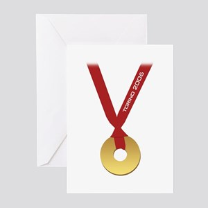 Funny Torino 2006 Olympics Go Greeting Cards (Pack