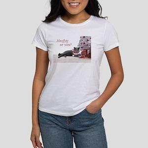 Cat Under Christmas Tree Women's T-Shirt