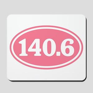 140.6 Pink Triathlon Oval Mousepad