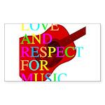 kuuma music select Sticker (Rectangle 10 pk)