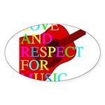 kuuma music select Sticker (Oval 10 pk)