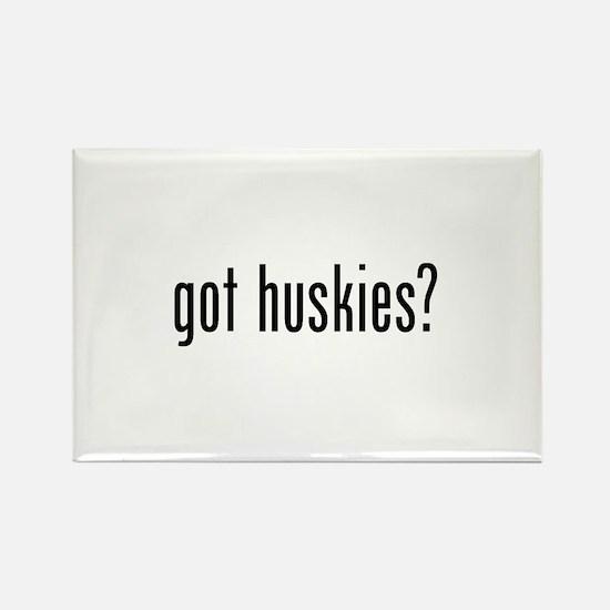 Got Huskies Rectangle Magnet