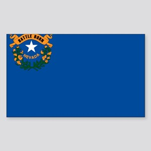 Flag of Nevada Sticker (Rectangle)
