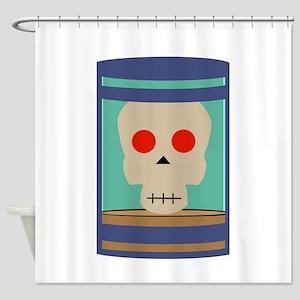 Skull Jar Shower Curtain