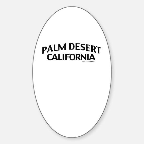 Palm Desert Sticker (Oval)