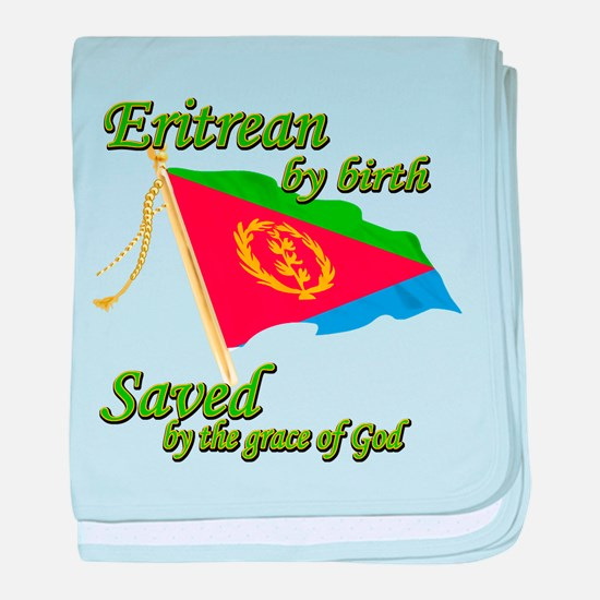 Eritrean by birth baby blanket