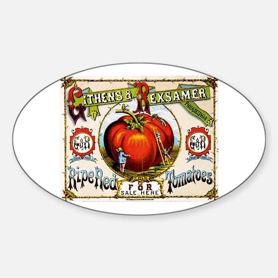 Funny Tomato Sticker (Oval)