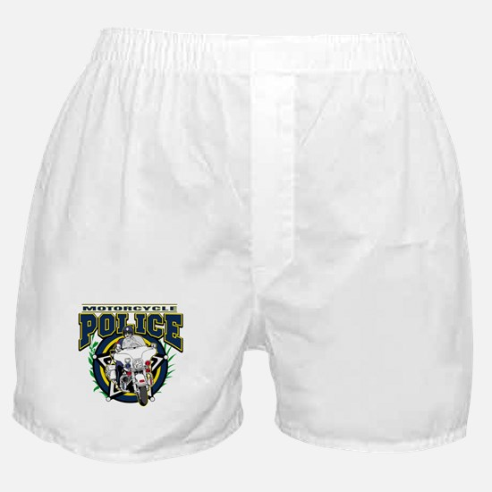 Motorcycle Police Officer Boxer Shorts