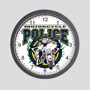 Motorcycle Police Officer Wall Clock