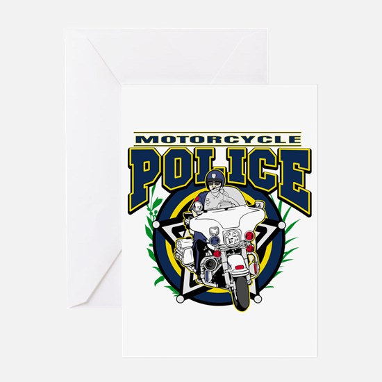 Motorcycle Police Officer Greeting Card