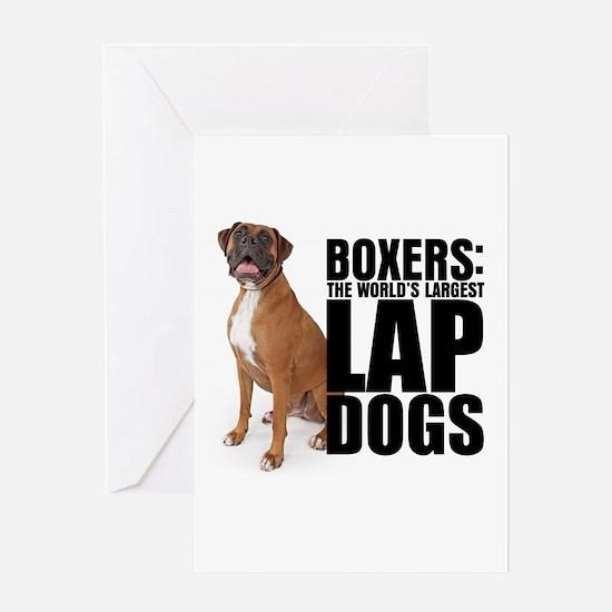 Boxer Lap Dog Greeting Card