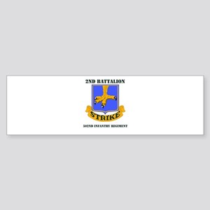 DUI - 2nd Bn - 502nd Infantry Regt with Text Stick