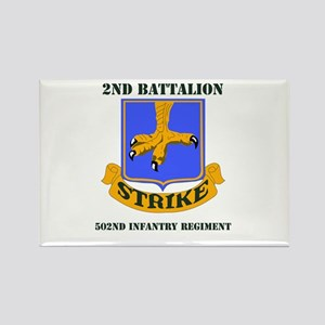 DUI - 2nd Bn - 502nd Infantry Regt with Text Recta