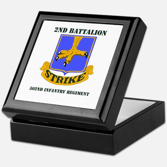 DUI - 2nd Bn - 502nd Infantry Regt with Text Keeps
