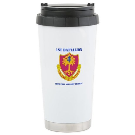 DUI - 1st Bn - 320th FA Regt with Text Stainless S