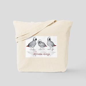 african grey parrots Tote Bag