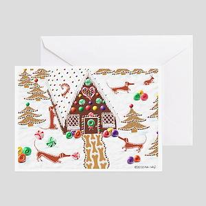 Gingerbread Dachshund Greeting Card