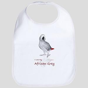 i love african greys Bib