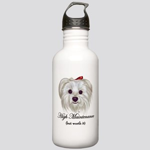 Captioned Maltese Stainless Water Bottle 1.0L