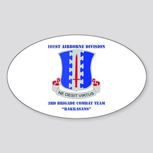 DUI - 3rd BCT - Rakkasans with Text Sticker (Oval)