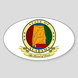 Alabama Seal Sticker (Oval)