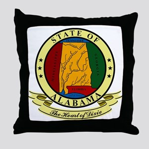 Alabama Seal Throw Pillow