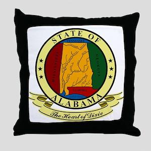 Alabama Seal Throw Pillow