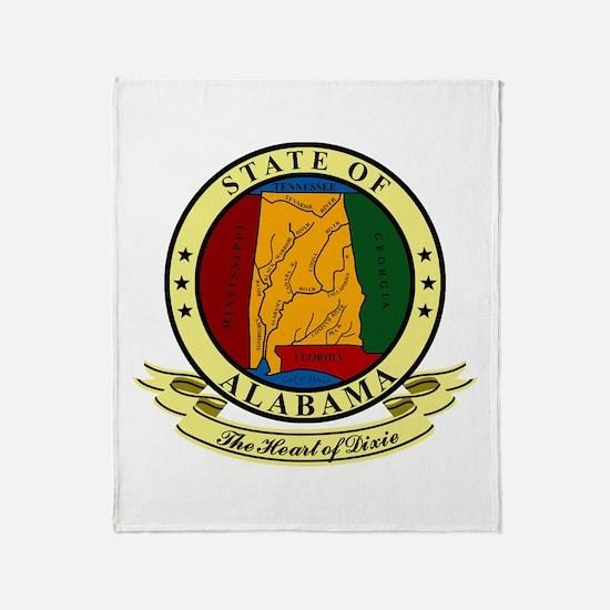 Alabama Seal Throw Blanket
